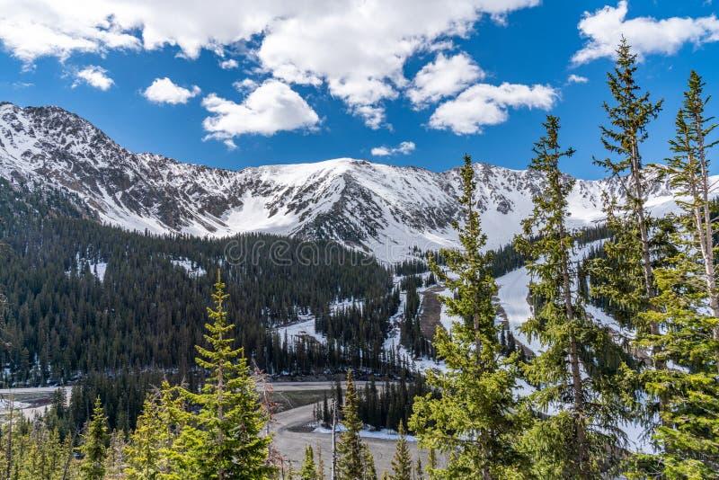 primavera na passagem de Loveland, Colorado imagem de stock royalty free