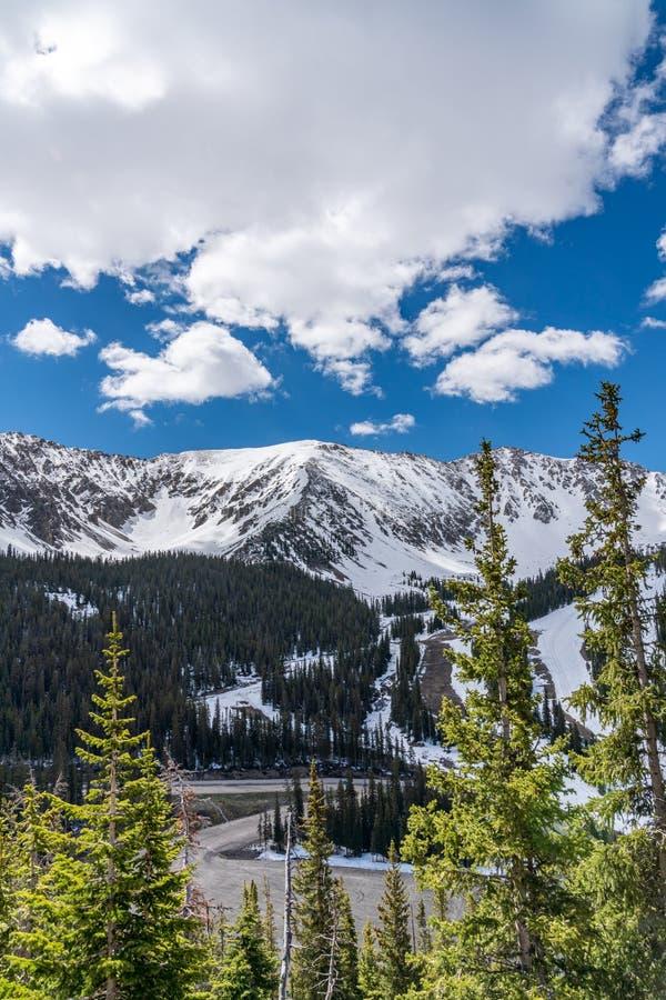 primavera na passagem de Loveland, Colorado imagem de stock