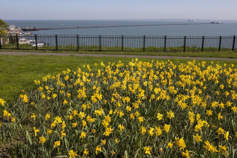 primavera no Southend-em-mar foto de stock