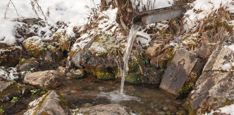 Primavera santa Paisaje del invierno imagenes de archivo