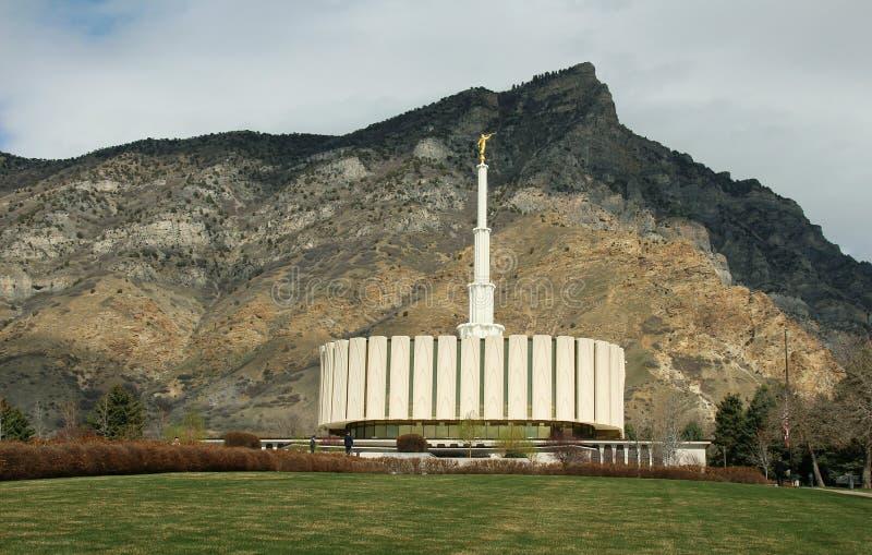 Primavera temprana LDS del templo mormón de Provo Utah fotografía de archivo libre de regalías