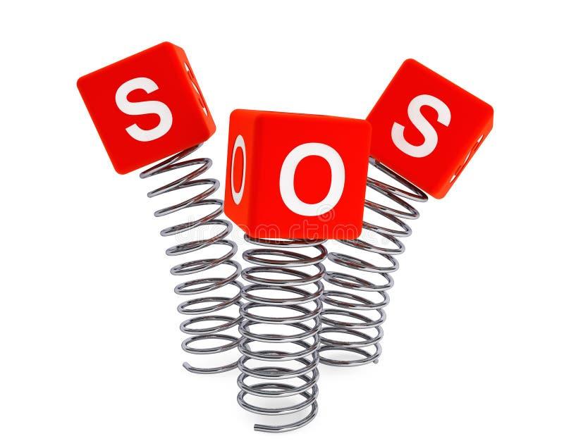 Primavere con i cubi di SOS royalty illustrazione gratis