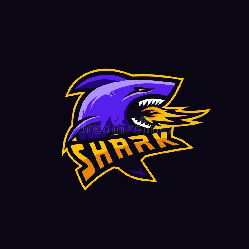 Prime de requin pour le jeu de peloton illustration de vecteur