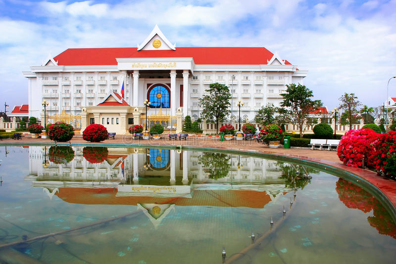 Prime Minister Office building, Vientiane, Laos. Southeast Asia stock photos