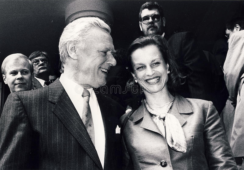 PRIME MINISTER POUL SCHL�TER ABD WIFE SCHL�TER stock photo
