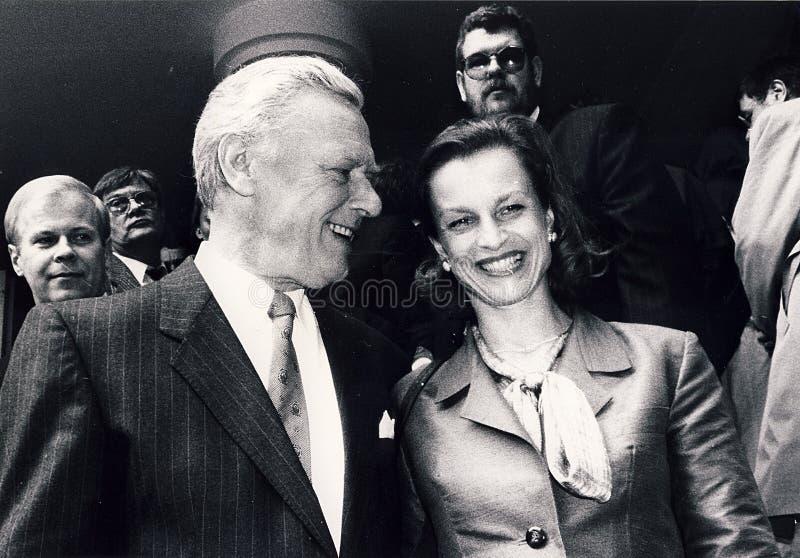PRIME MINISTER POUL SCHL�TER ABD WIFE SCHL�TER. Copenhagen /Denmark - 08 May 1991 _Historical file images-Denmark`s Prime minister Poul Schl�ter stock photo