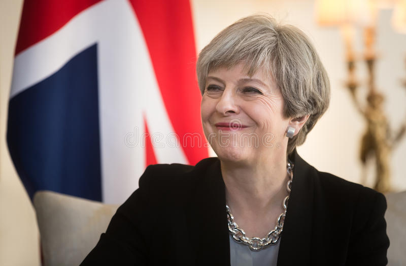 Prime Minister of the United Kingdom Theresa May royalty free stock photo