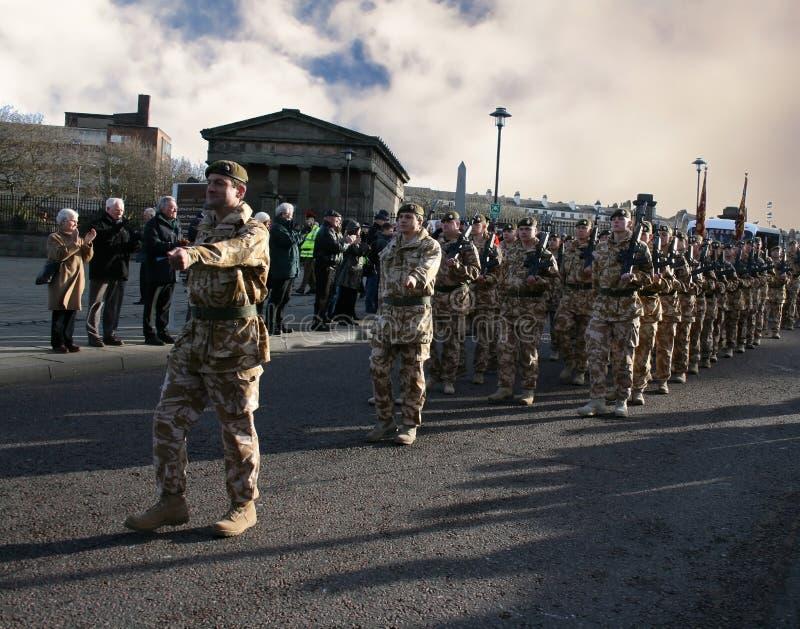 prime protezioni dell'Irlandese del battaglione immagine stock libera da diritti