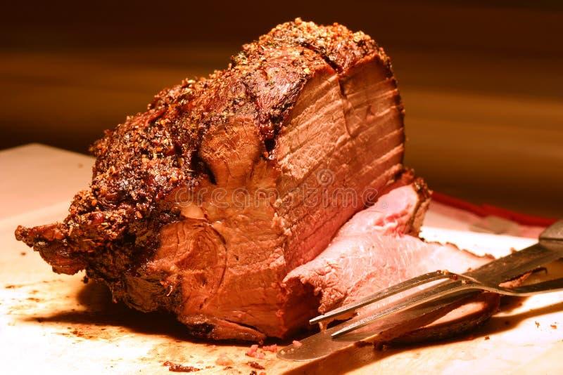 Prime Rib. Shot of prime rib at a buffet table. Shallow DOF stock photo