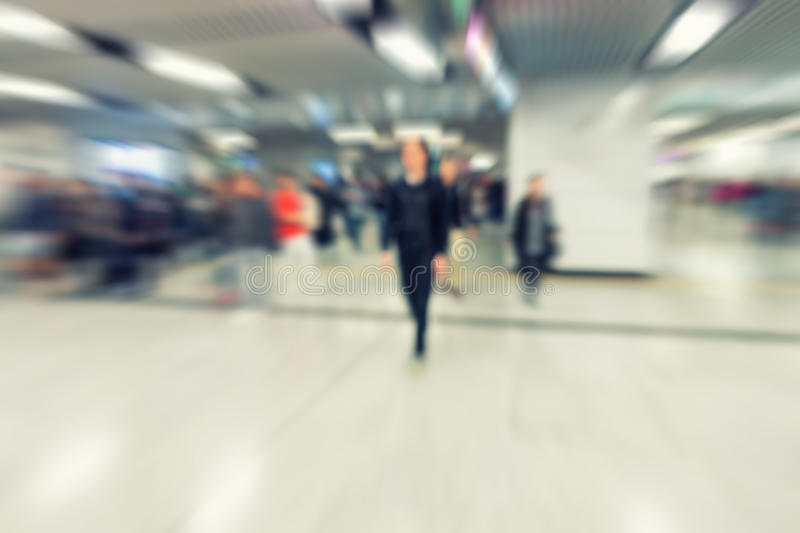 Prime time in the subway., Motion blurred, Abstract background. stock images