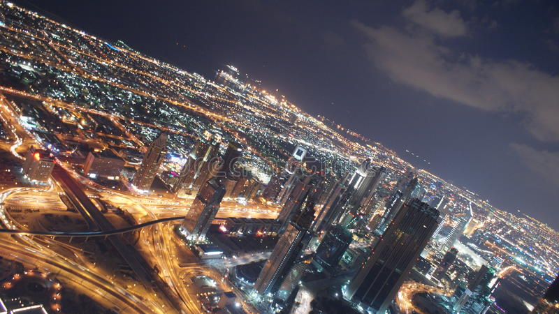 Prime viste dalla parte superiore del Burj Khalifa immagini stock libere da diritti