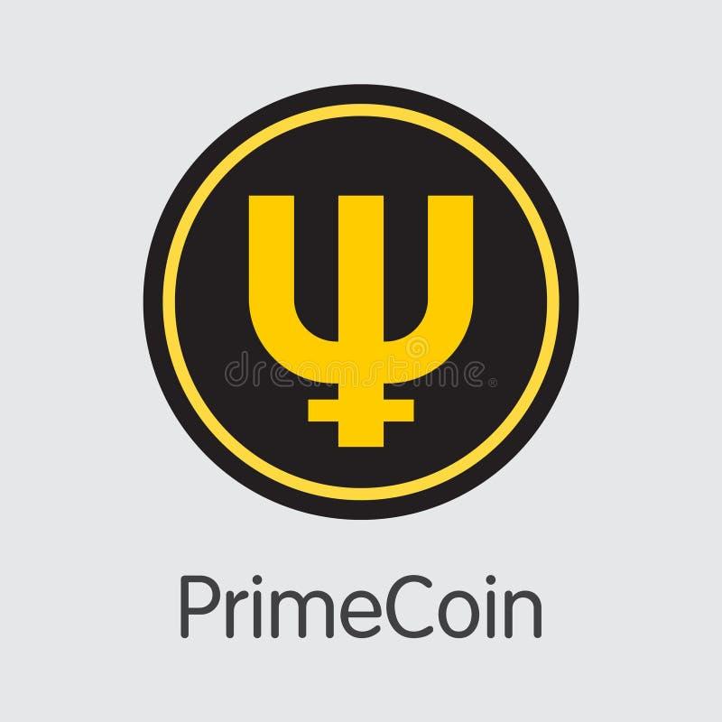 Primecoin - logo colorato Cryptocurrency illustrazione vettoriale