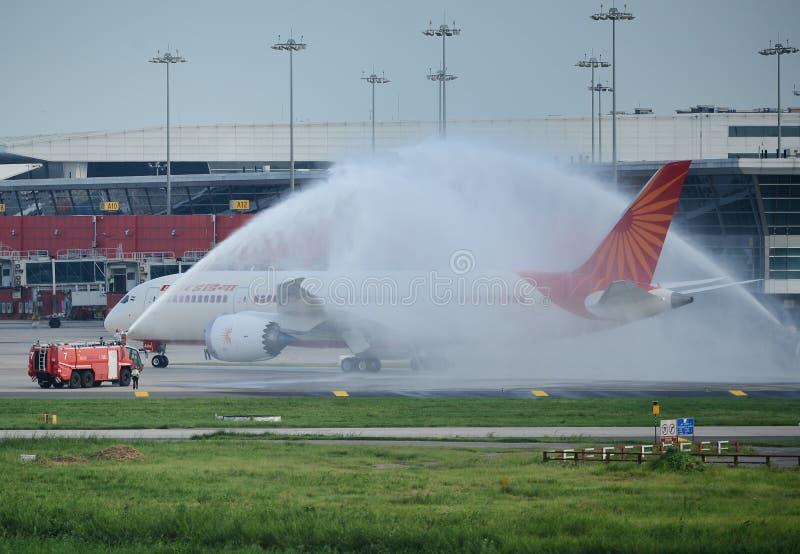 Download Primeira Air India Boeing 787 Foto de Stock Editorial - Imagem de aterragem, avião: 26523438
