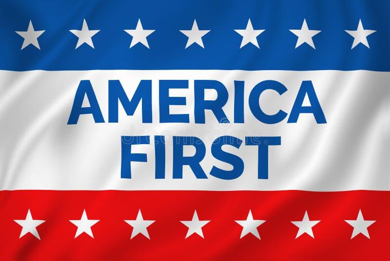 Primeira bandeira de América ilustração do vetor