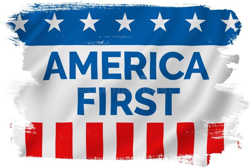 Primeira campanha de América ilustração do vetor