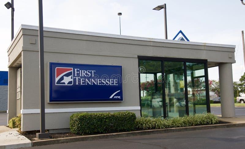 Primeira construção de Tennessee Bank ATM imagem de stock