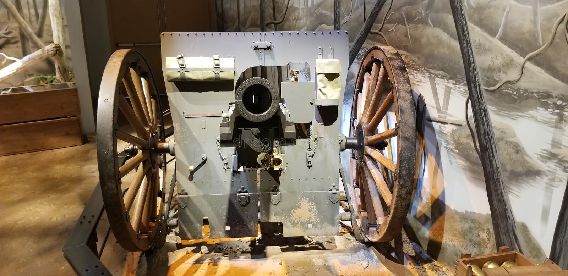 Primeira Guerra Mundial Marine Corps Cannon fotografia de stock