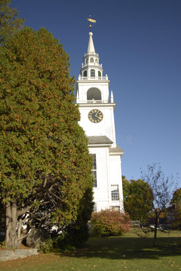 Primeira Igreja Congregacional de Hancock imagem de stock