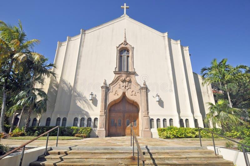 Primeira igreja metodista unida de Coral Gables imagem de stock royalty free