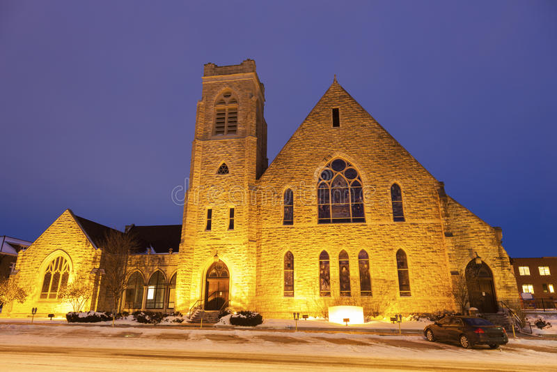 Primeira igreja presbiteriana no Topeka fotos de stock royalty free