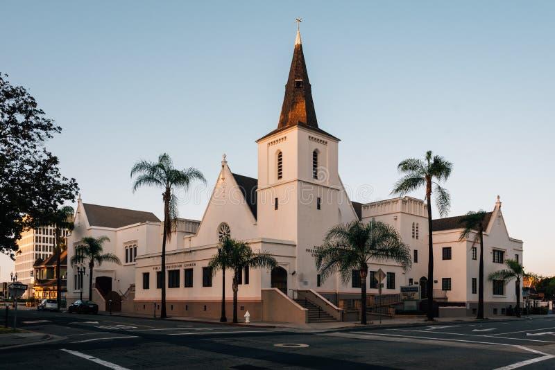 A primeira igreja presbiteriana, Santa Ana, Califórnia foto de stock royalty free