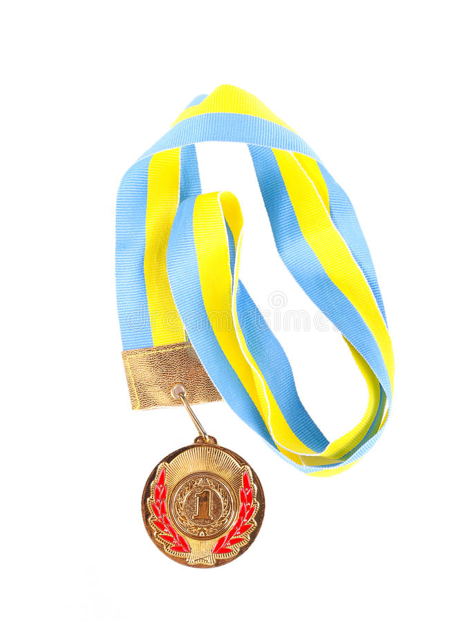 Primeira medalha do lugar foto de stock