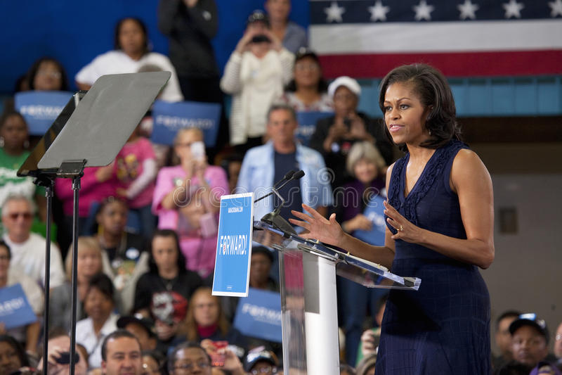 Primeira senhora Michelle Obama fotos de stock royalty free