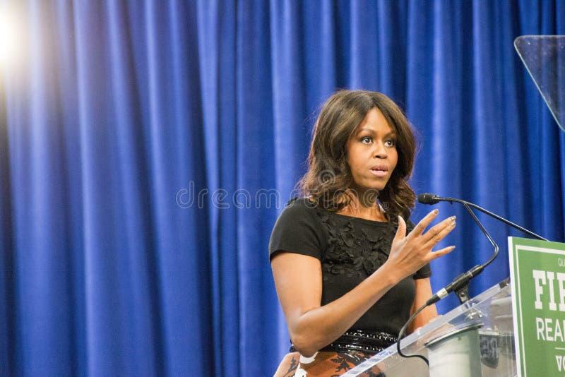 Primeira senhora Michelle Obama imagem de stock