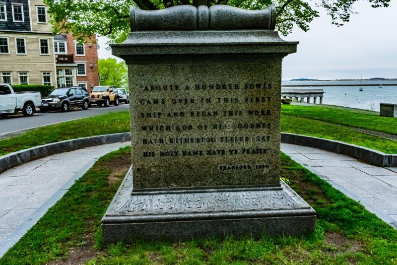 Primeira terra de enterro de Plymouth imagem de stock