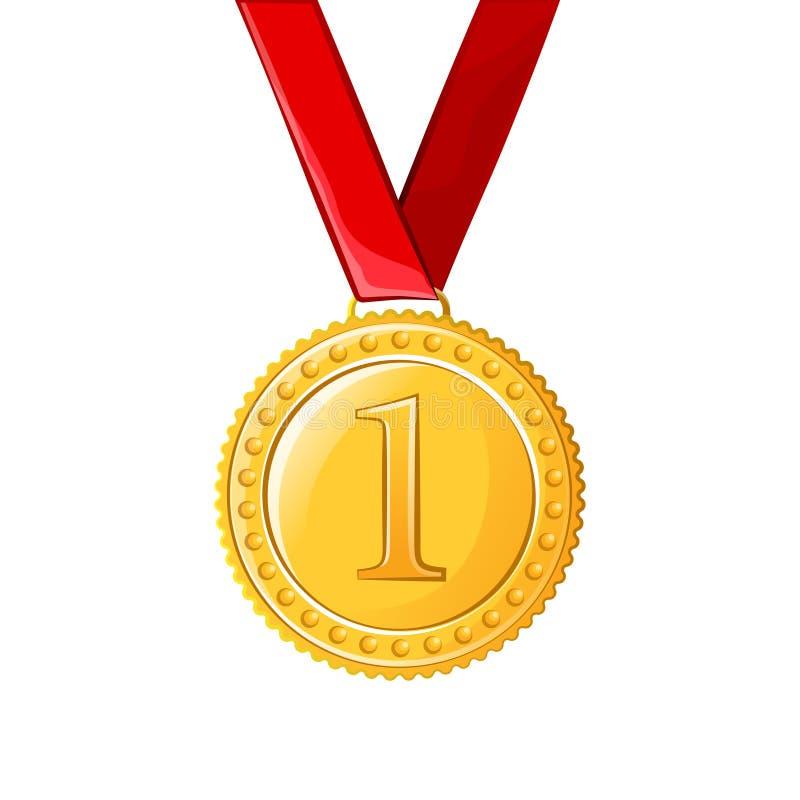 Primeira tração do vetor da medalha do lugar fotografia de stock royalty free