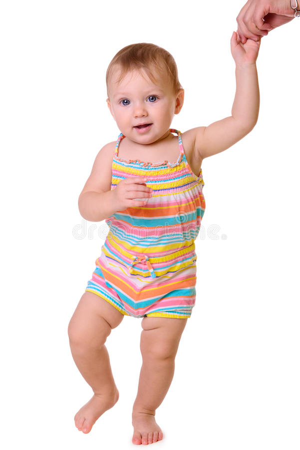 Primeiras etapas do bebê fotografia de stock royalty free