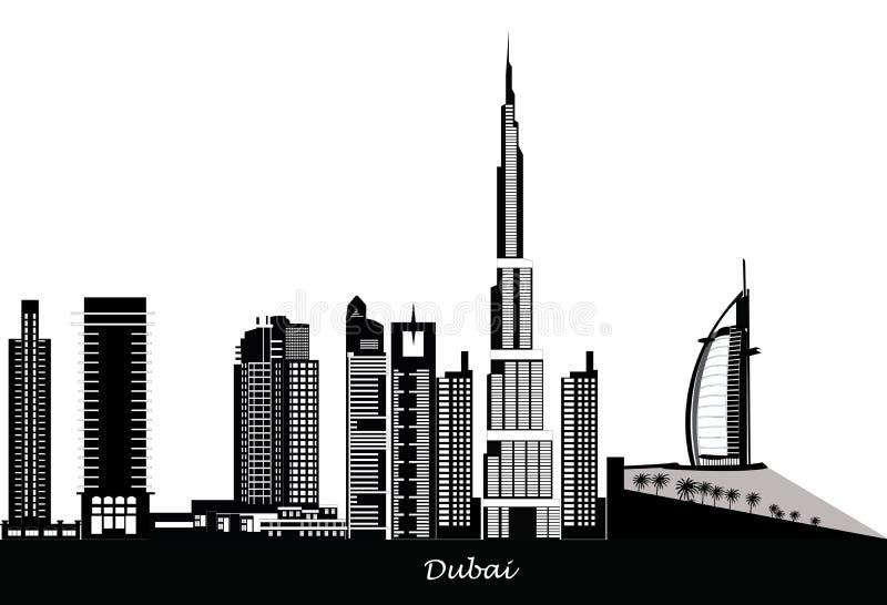 Primeiras vistas da parte superior do Burj Khalifa ilustração stock