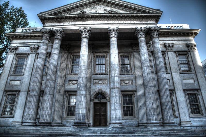 Primeiro banco do Estados Unidos em Philadelphfia imagem de stock