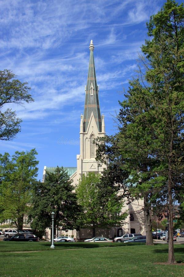 Primeiro Baptist Church de Raleigh fotos de stock royalty free