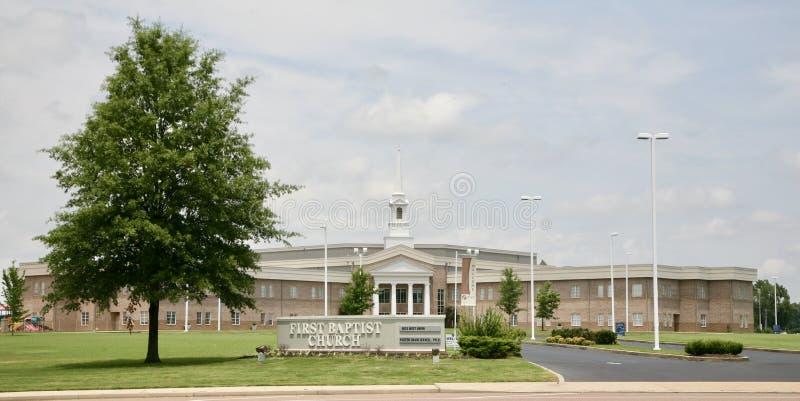 Primeiro Baptist Church, Millington, TN fotos de stock royalty free