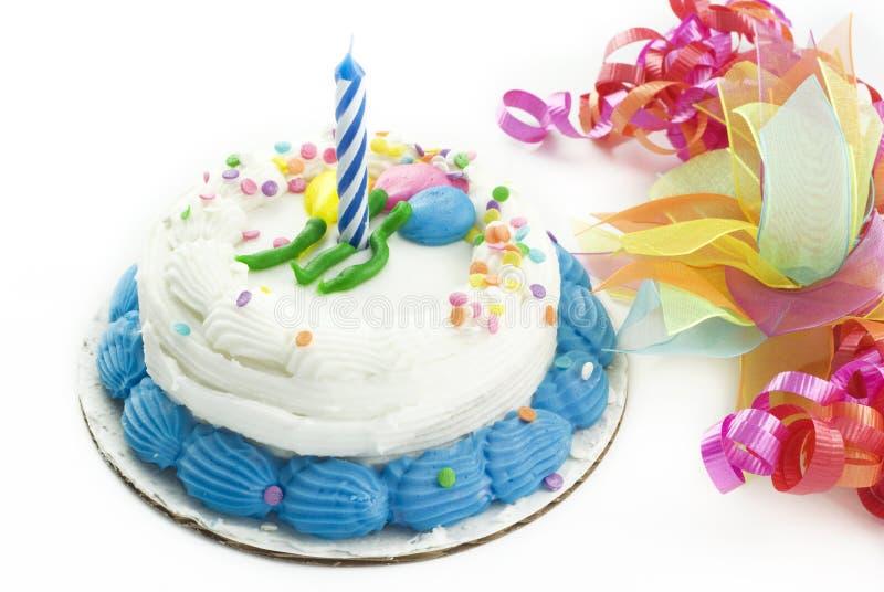 Primeiro bolo de aniversário fotos de stock