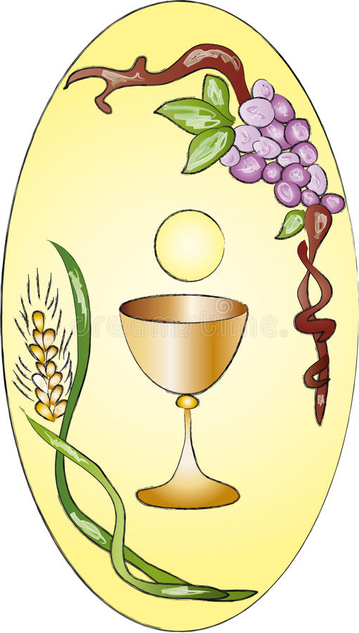Primeiro comunhão ilustração do vetor