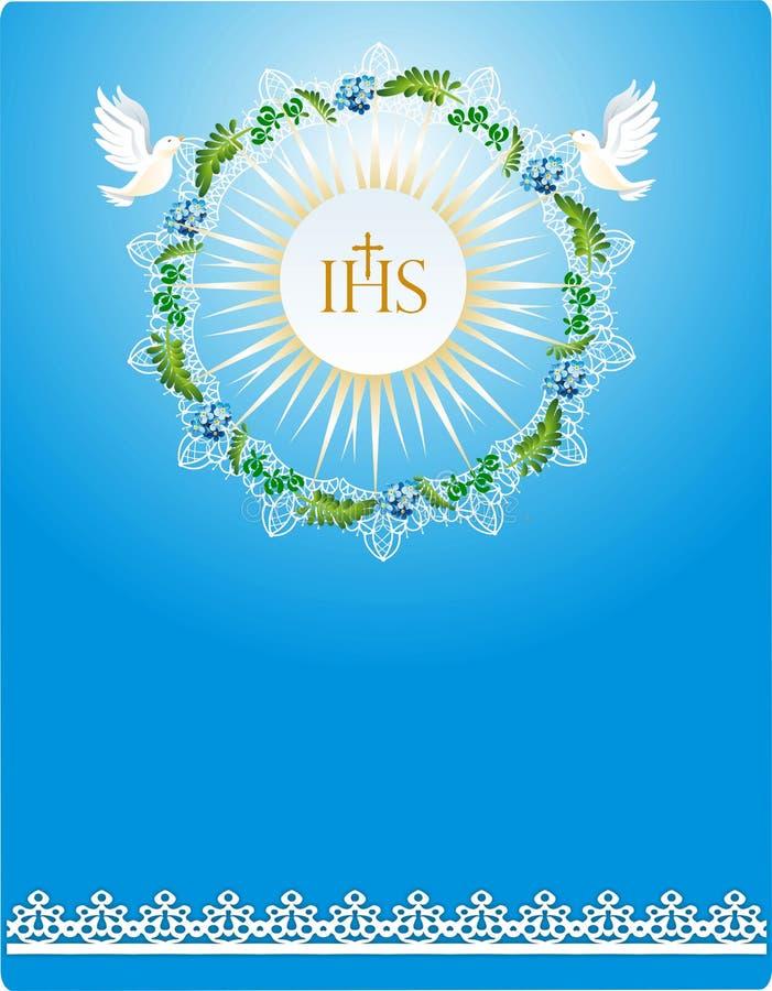 Primeiro comunhão, ilustração royalty free