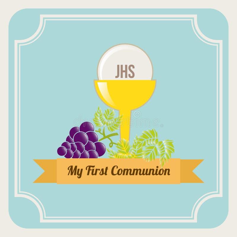 Primeiro comunhão ilustração royalty free