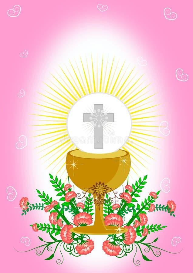 Primeiro comunhão santamente ilustração stock