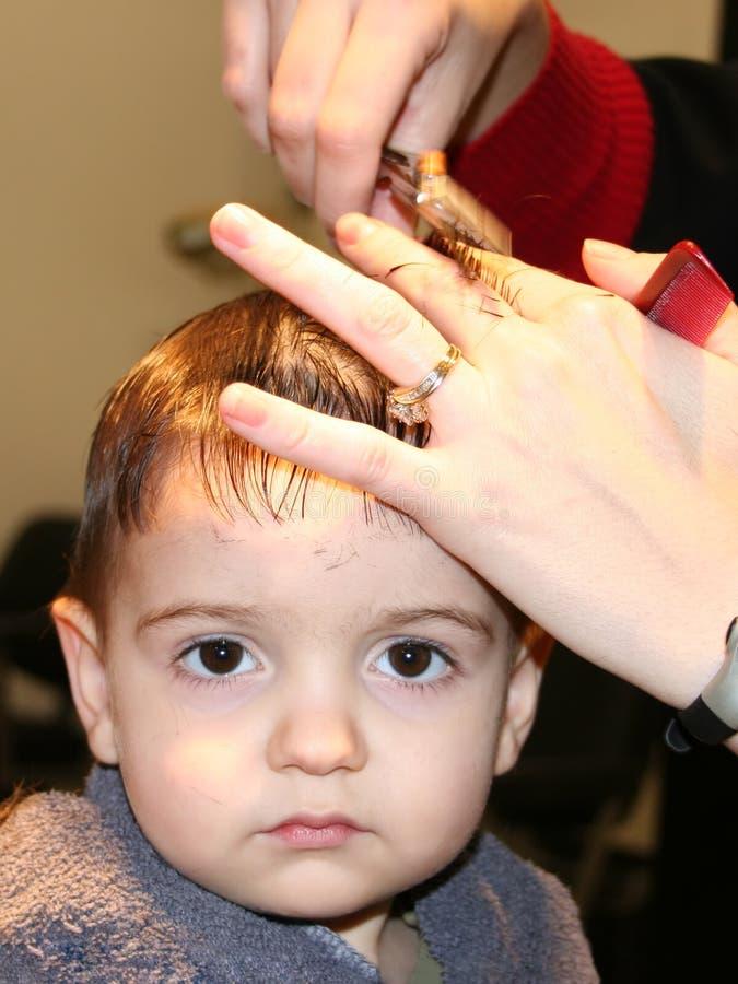 Download Primeiro corte do cabelo foto de stock. Imagem de comb, guarnição - 57892