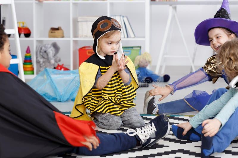 Primeiro dia no jardim de infância foto de stock royalty free