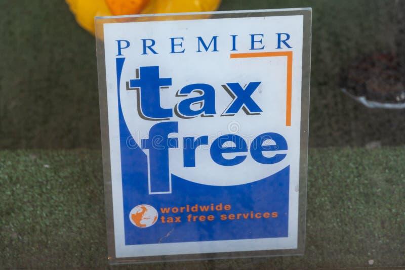 Primeiro emblema isento de impostos imagem de stock royalty free