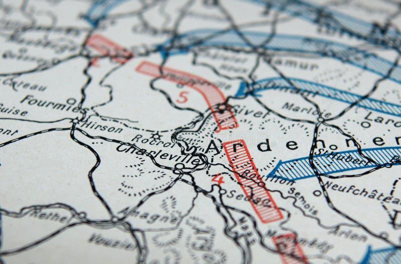 Primeiro mapa da guerra mundial fotos de stock royalty free