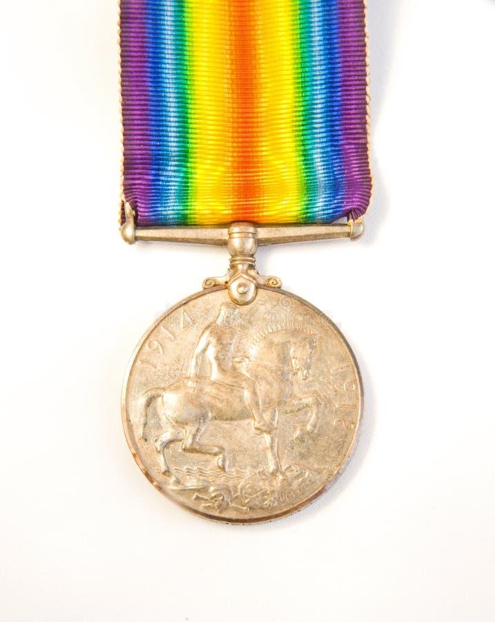 Primeiro medalhista de prata da guerra de mundo. imagens de stock royalty free