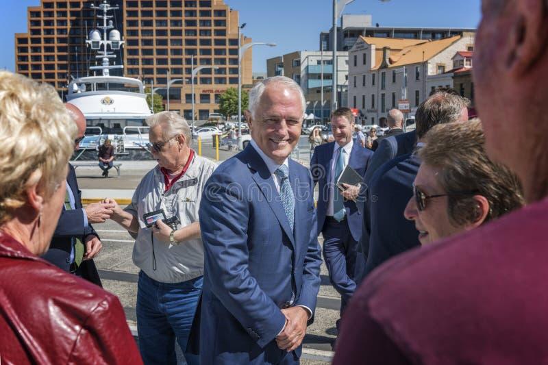 Primeiro ministro australiano, Malcolm Turnbull imagens de stock royalty free