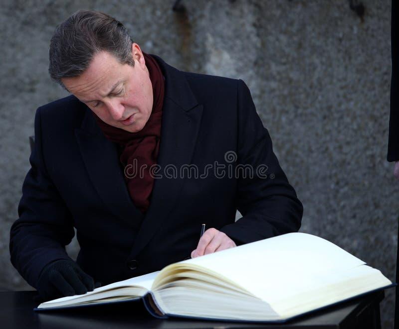 Primeiro ministro britânico David Cameron imagem de stock