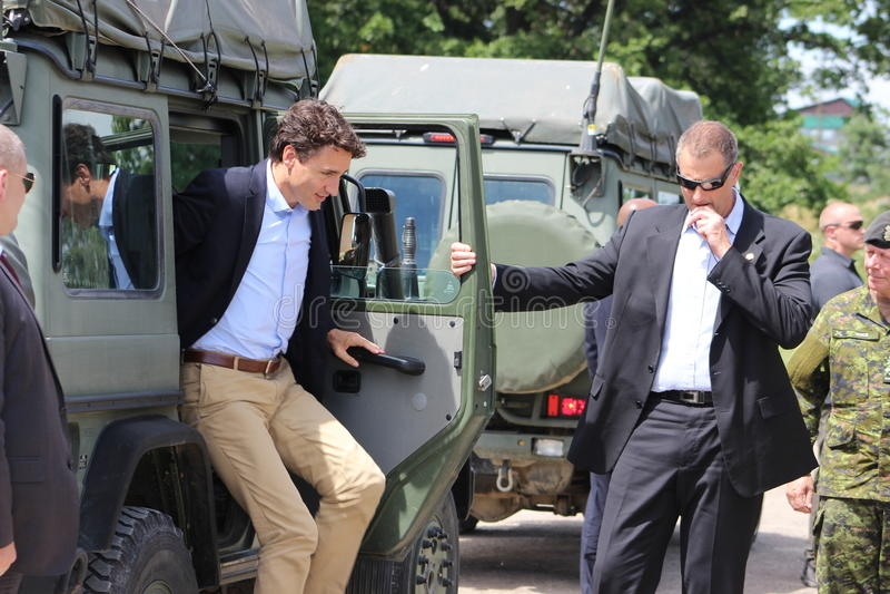 Primeiro ministro canadense Justin Trudeau fotos de stock