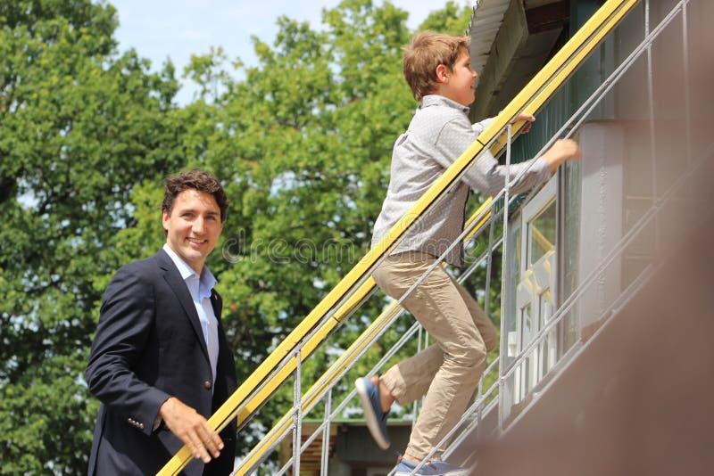 Primeiro ministro canadense Justin Trudeau foto de stock