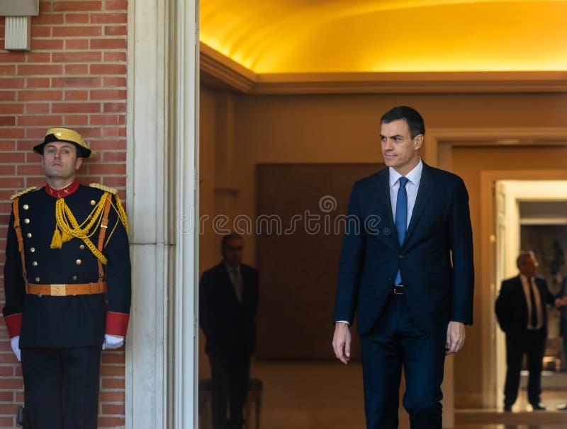 Primeiro ministro da Espanha Pedro Sanchez foto de stock